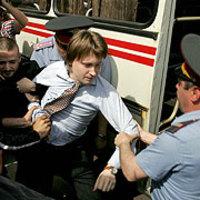 Nikolai Alekseev arrêté pendant la gay pride 2007 à Moscou