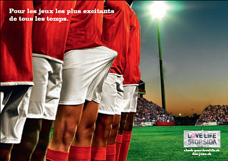 Euro 2008 en Suisse : campagne de l'ASS contre le SIDA