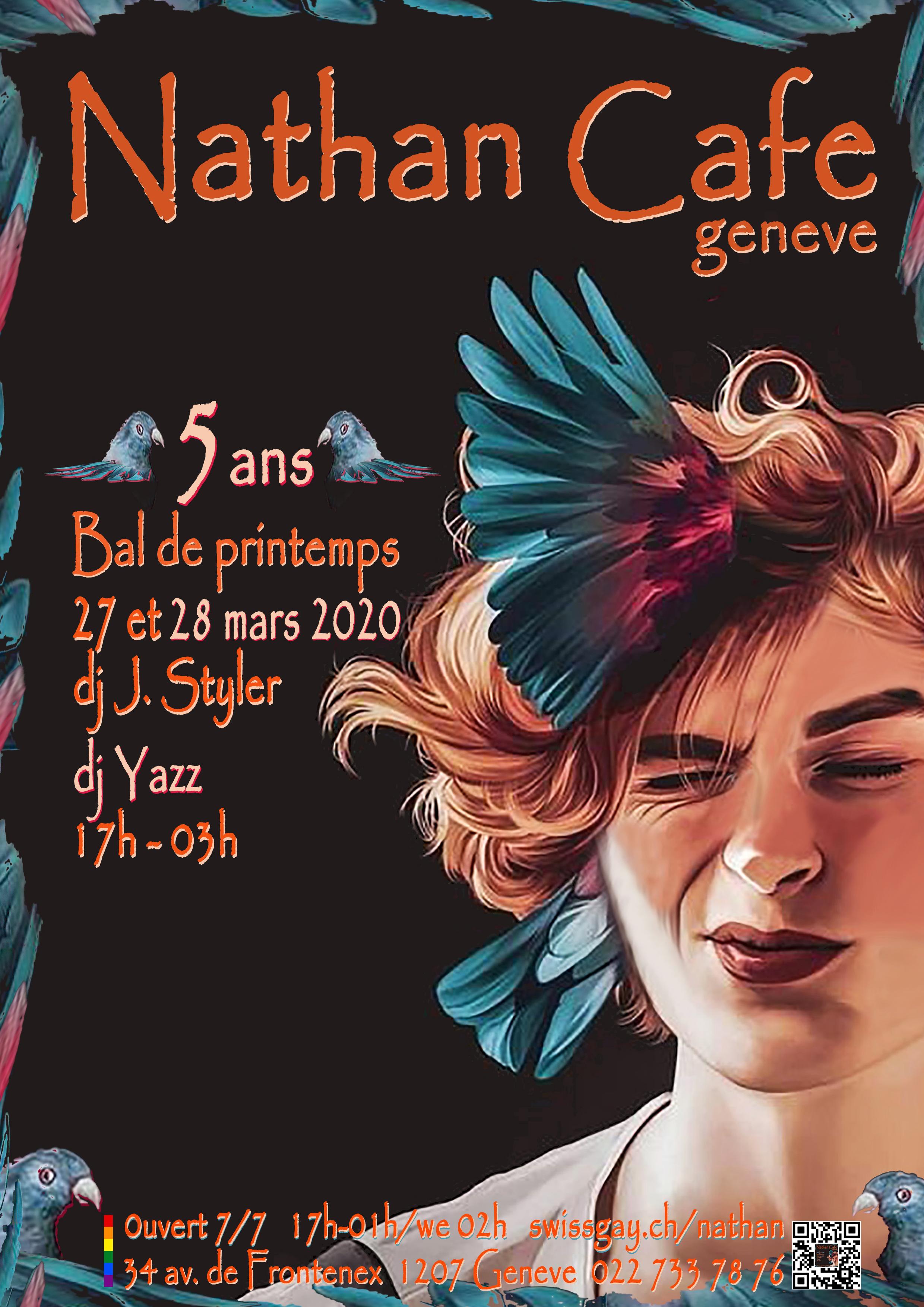 """Nathan Café Genève - """"Bal de printemps - 5 ans"""" - 20 et 21 mars 2020"""