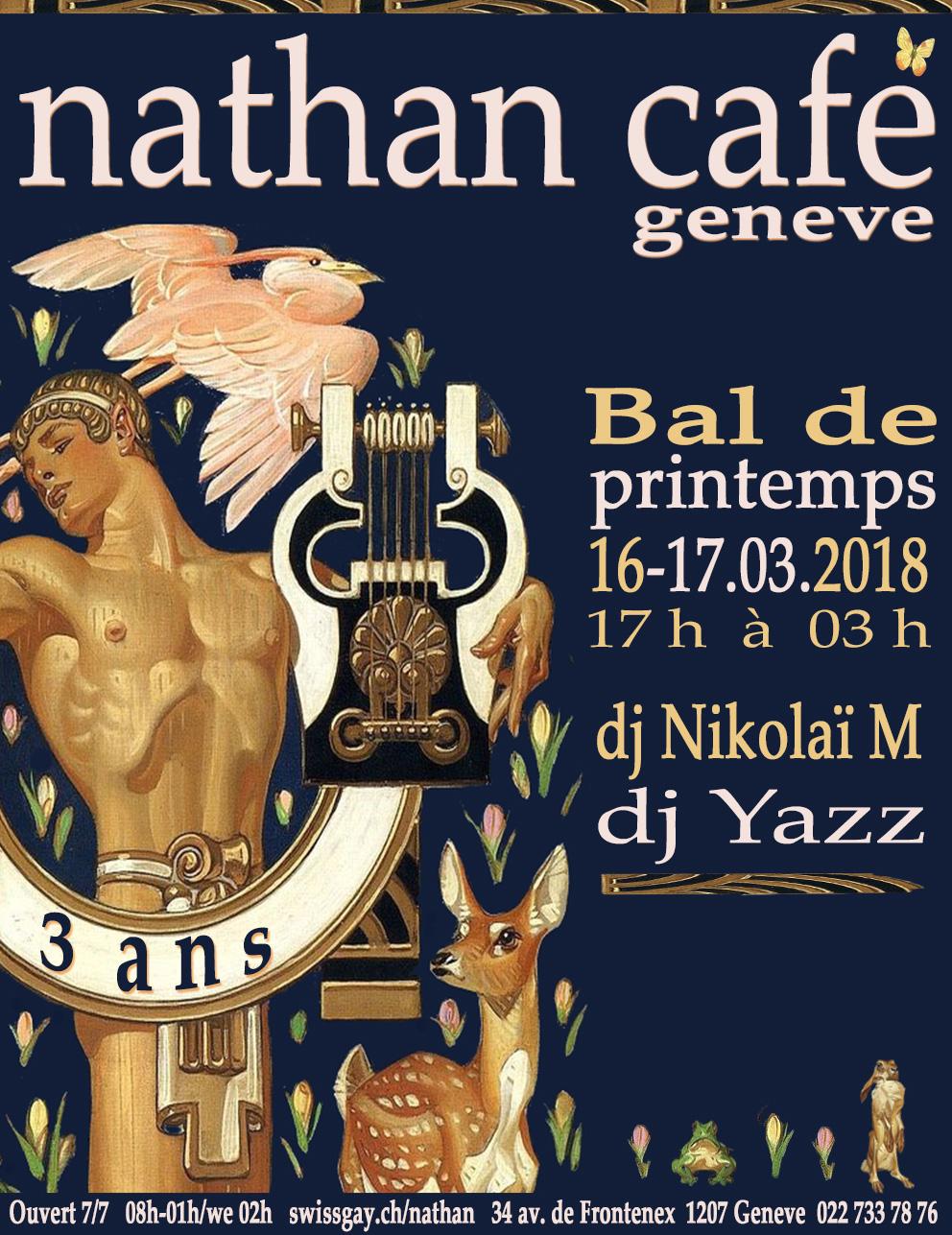 Nathan Café Genève - Bal de printemps - 3 ans ! - 16 et 17 mars 2018