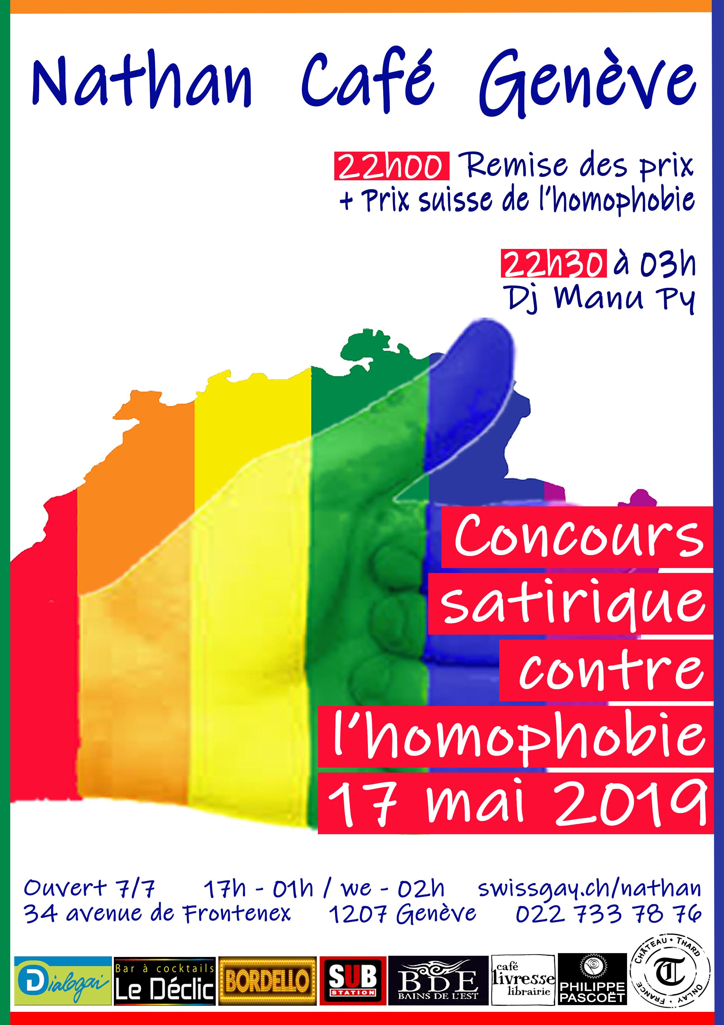 Nathan Café Genève - Concours contre l'homophobie 2019