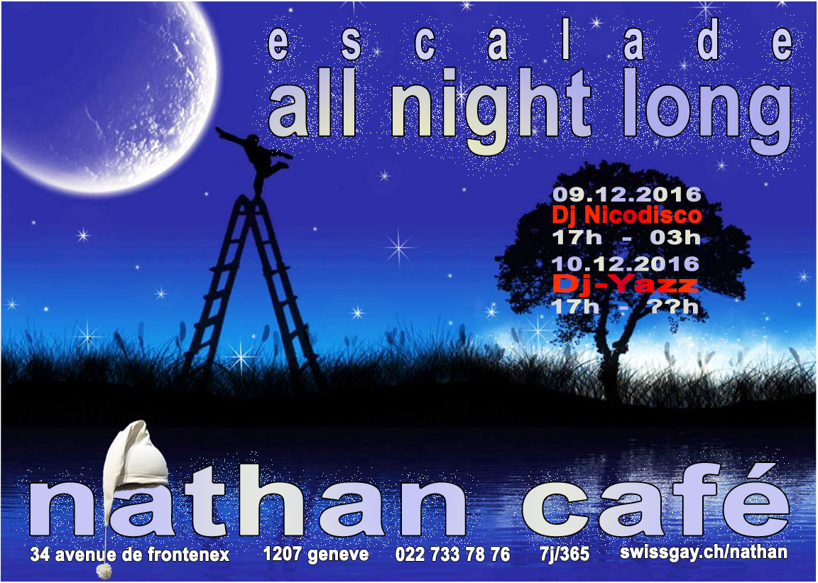 "Nathan Café Genève - Escalade ""All night long"" - 9 et 10 décembre 2016"