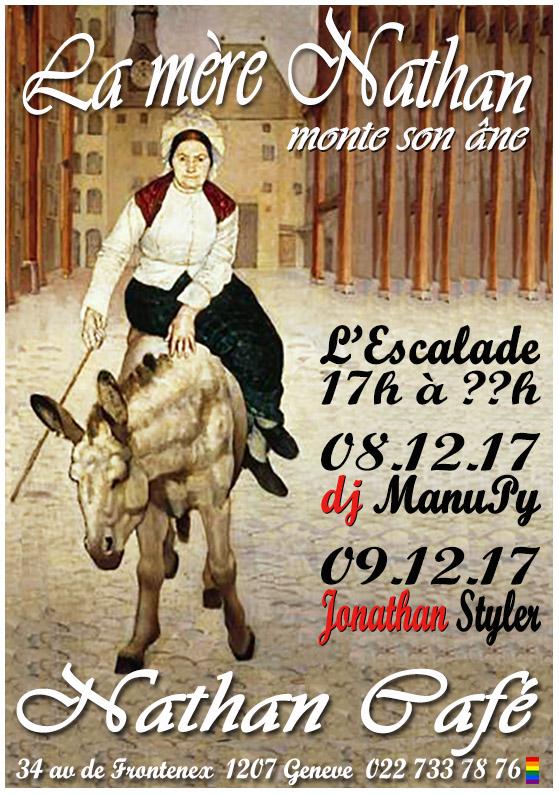 """Nathan Café Genève - """"L'Escalade"""" - 8 et 9 décembre 2017"""