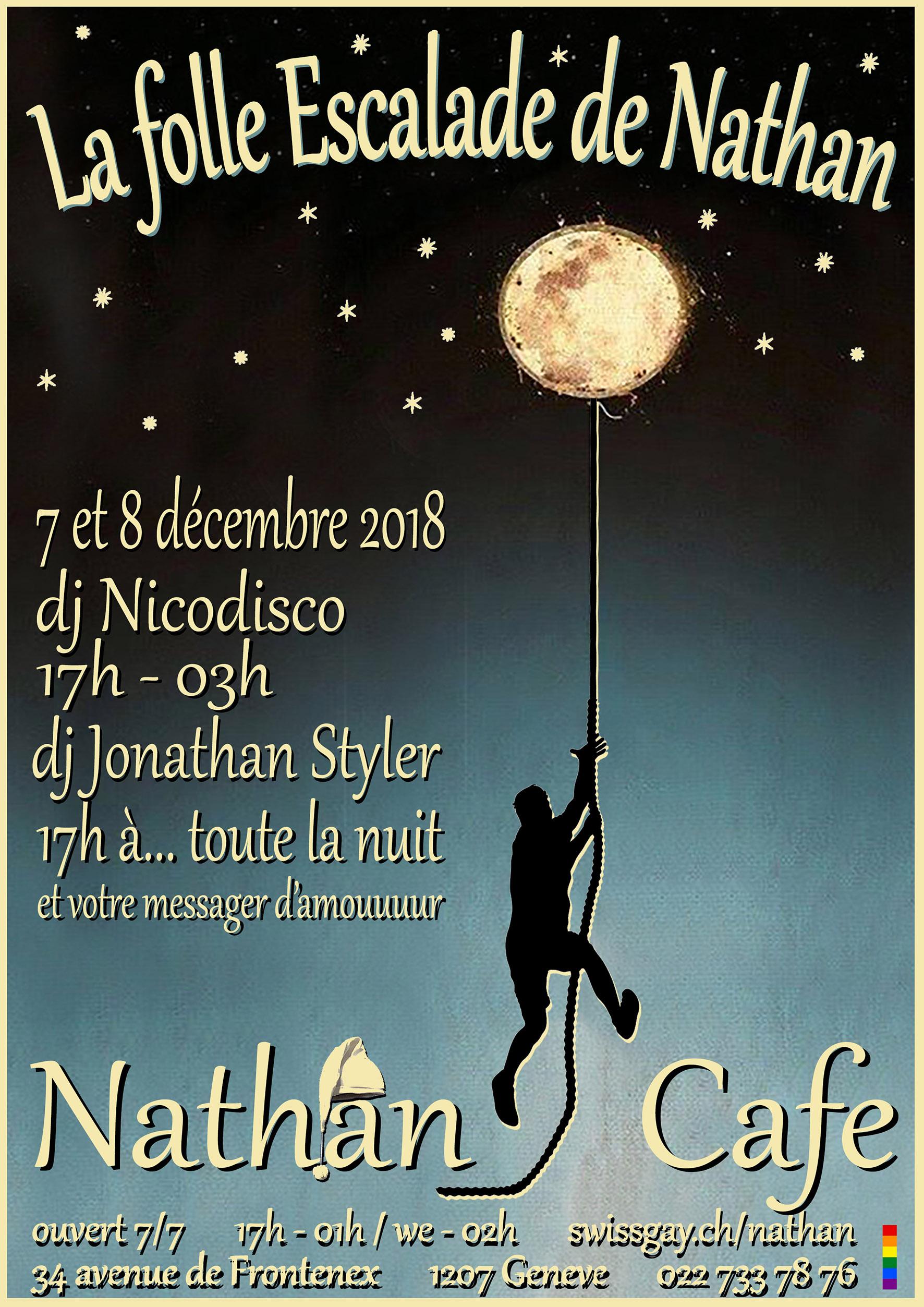 """Nathan Café Genève - """"La folle Escalade de Nathan"""" - 7 et 8 décembre 2018"""