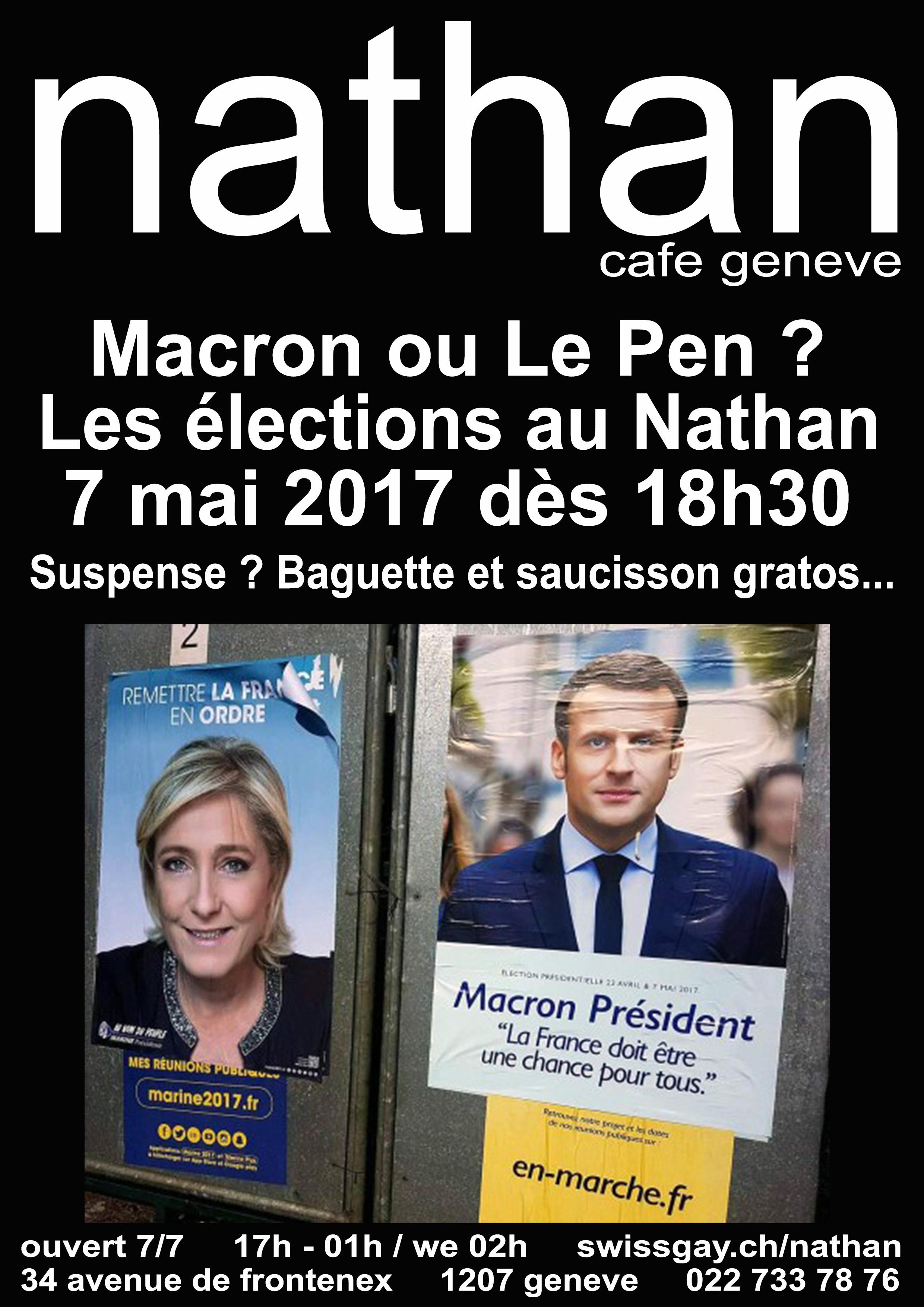 Nathan Café Genève - Les élections françaises au Nathan ! - Dimanche 7 mai 2017