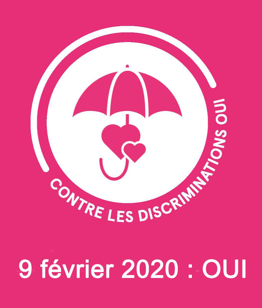 Contre les discriminations homophobes : votons OUI le 9 février 2020 !