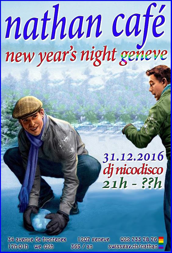 """Nathan Café Genève - Nouvel an """"New year's night"""" - 31 décembre 2016"""